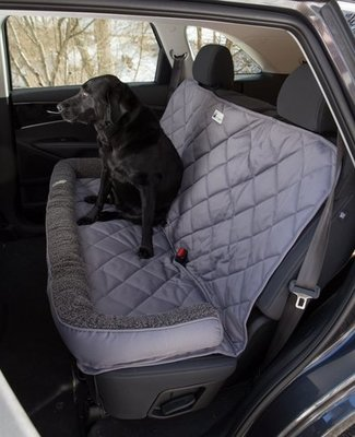 Back Seat Protector with Fleece Headrest for Dogs