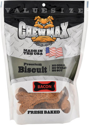 """Chewmax Premium Bacon Biscuits, 4""""L"""