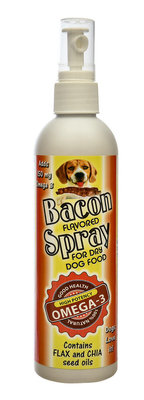 Bacon Flavored Dog Food Spray, 8 oz
