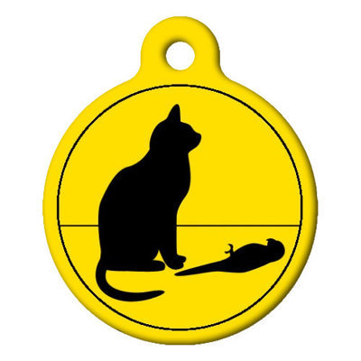Bad Cat, Poor Bird, Custom ID Tag