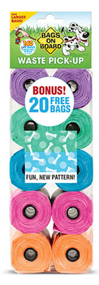 Bags on Board Waste Pick-Up Bag Dispensers & Refills