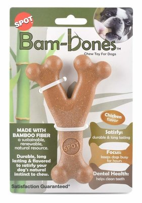 Bam-Bones Chicken Wishbone Chew Toy