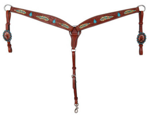 Bar H Hand-Painted Feather Breast Collar