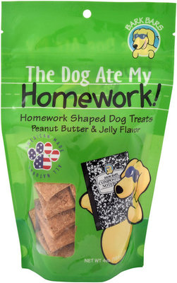 Bark Bars The Dog Ate my Homework Treats, 4 oz