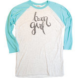 """Barn Girl"" Baseball Tee"