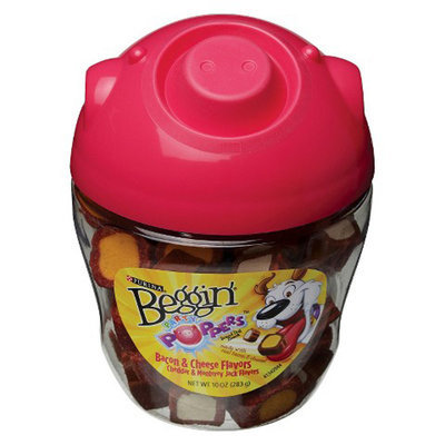 Beggin' Party Poppers Pig Canister, 10 oz