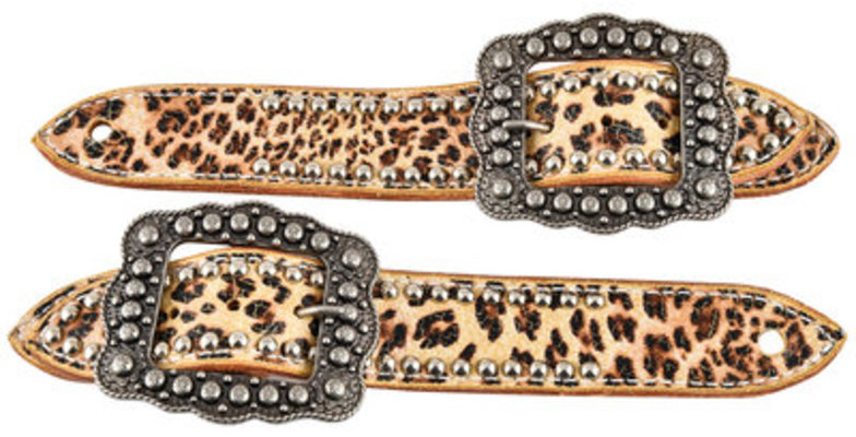 Belt Spur Straps, Ladies, Silver Spots