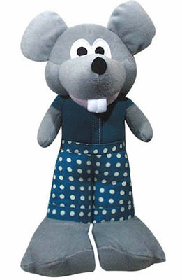 Big Foot Mouse Plush Dog Toy