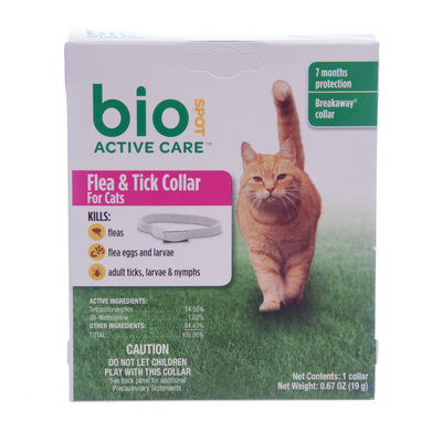 BioSpot Active Care Flea & Tick Collars for Cats