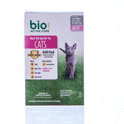 BioSPOT® Active Care Spot-On for Cats under 5lb, 3 month Refill Pack