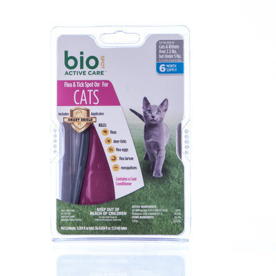 BioSPOT® Active Care Spot-On for Cats under 5lb, 6mo