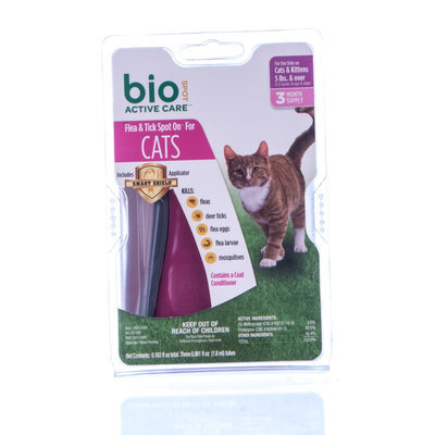 BioSPOT Active Care Spot-On for Cats over 5lb, 3mo supply