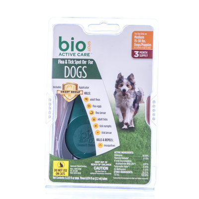 3-pk BioSpot Active Care for Dogs 15-30 lb