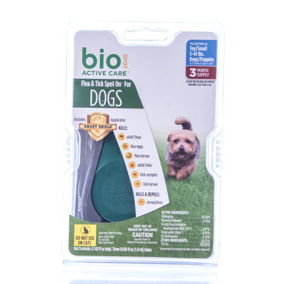 3 pk BioSPOT Active Care for Dogs 5-14 lb