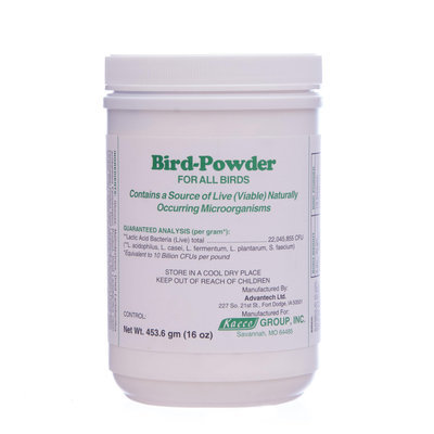 Bird-Powder (Probiotic) for All Birds, 16 oz