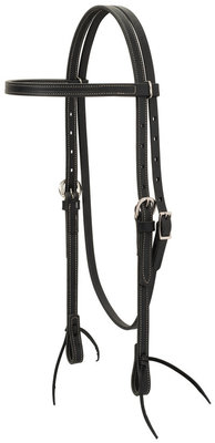 Black Latigo Leather Browband Headstall