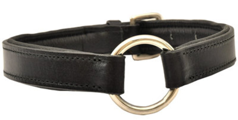 "1"" x 20"", Jeffers Padded Leather Collar"