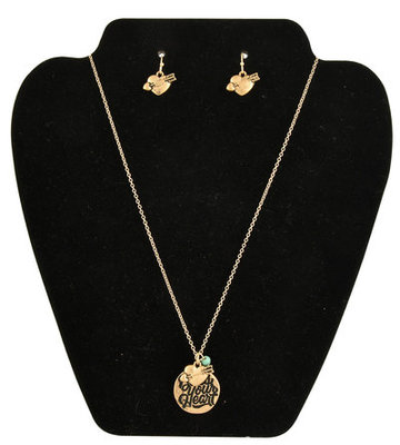 """Bless Your Heart"" Necklace & Earring Set"