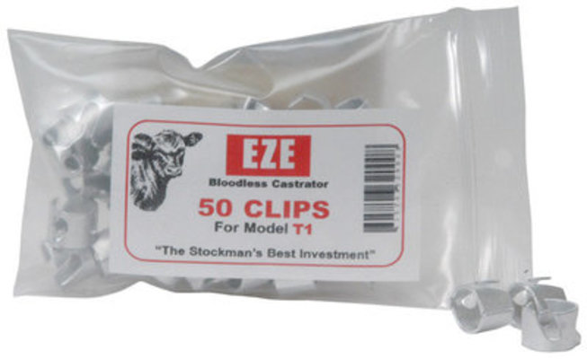 EZE Bloodless Aluminum Clips, pkg of 50