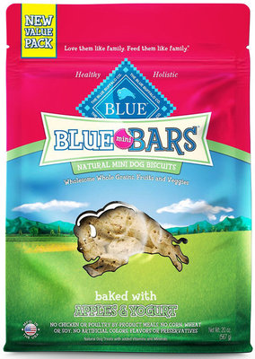 Blue Mini Bars, Apple/Yogurt, 20 oz