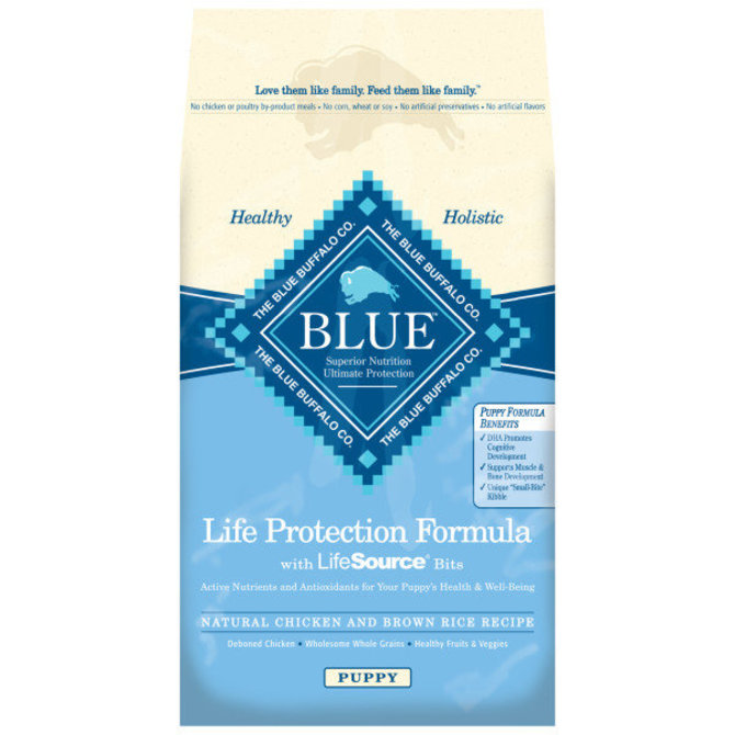 Blue buffalo puppy chicken brown rice 30 lb jeffers pet for Blue buffalo fish and brown rice
