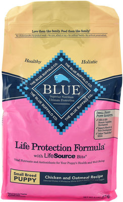Blue Buffalo Small Breed Puppy, Chicken/Oatmeal, 6 lb