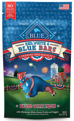 Blue Buffalo Red, White, & Blue Bars, 8 oz