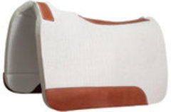 Blue Horse 100% Pressed Wool Contoured Barrel Saddle Pad