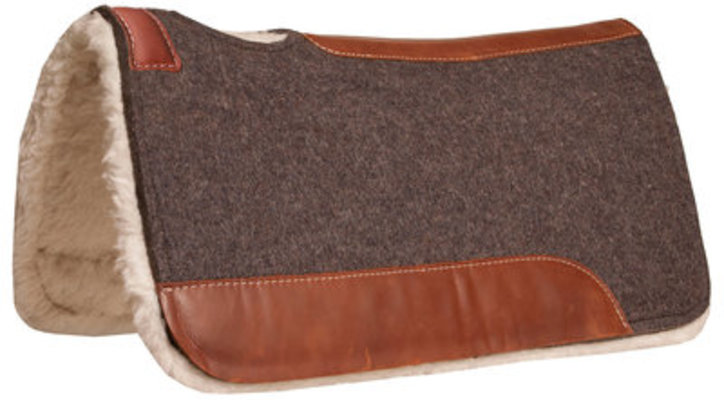 Blue Horse 100% Wool Contoured Saddle Pad with Fleece Bottom