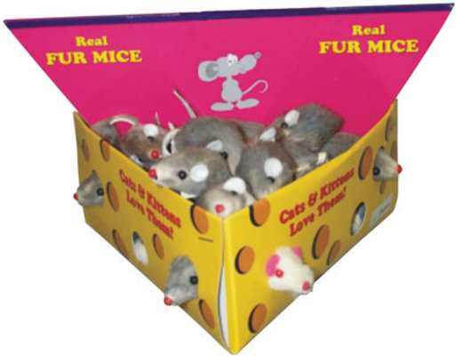 "2"" Furry Mice, box of 48"