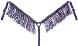 Braided Cord Breast Collar with Fringe & Crystals
