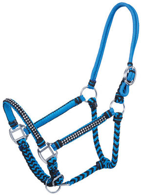 Braided Rope Halter with Stones, Full