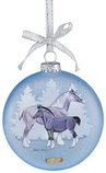 Breyer Artist Signature Draft Horses Glass Ornament