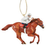 "Breyer Horse ""Justify"" Christmas Ornament"