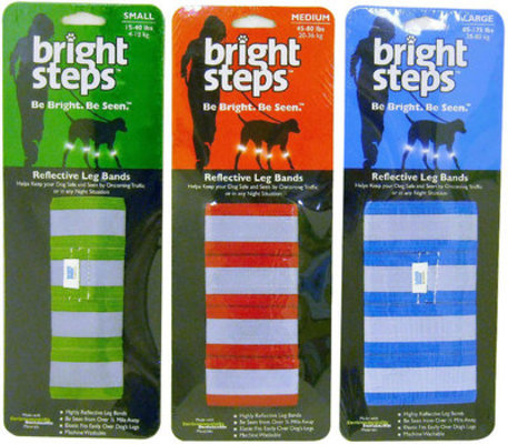 Bright Steps Reflective Leg Bands for Dogs