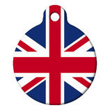 British Flag Dog, Custom ID Tag