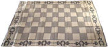 Checkerboard Design Horse Themed Mats