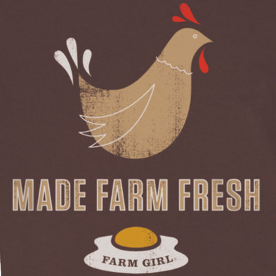 Farm Girl® Made Farm Fresh Jr Tee, Brown