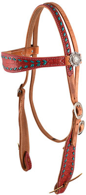 Buck Stitch Browband Headstall