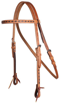 Buckstitch Harness Leather Browband Headstall