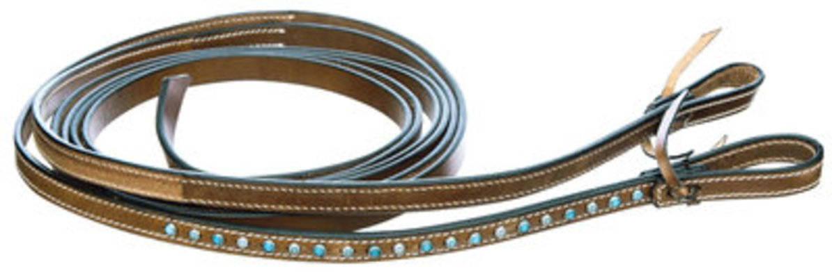 Turquoise Dots Collection, Split Reins