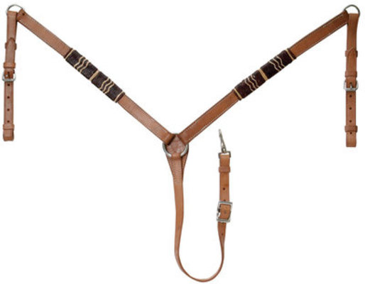 Rawhide Breast Collar, Light Oil