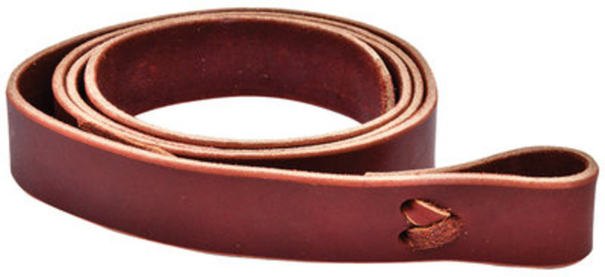 "Leather Tie Strap, 1-1/2"" x 6' (Burgundy)"