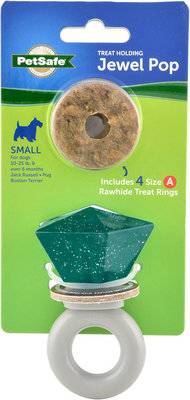 Busy Buddy Jewel Pop Treat Ring Dog Toy