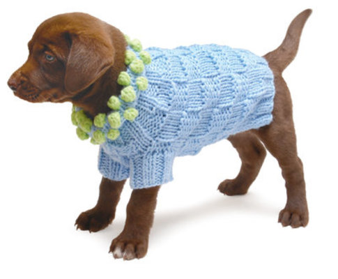Pom Pom Knit Dog Sweater