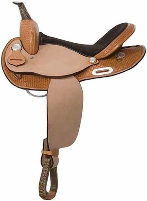 Calico Barrel Saddle