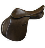 Camelot Adult Close Contact Saddle, Brown