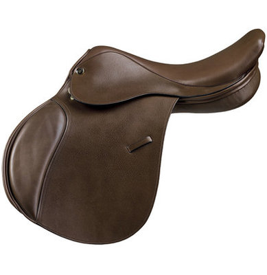 Camelot Child Close Contact Saddle, Brown