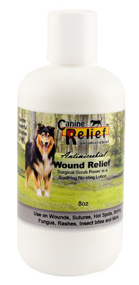 Canine Relief Antimicrobial Wound Relief Lotion