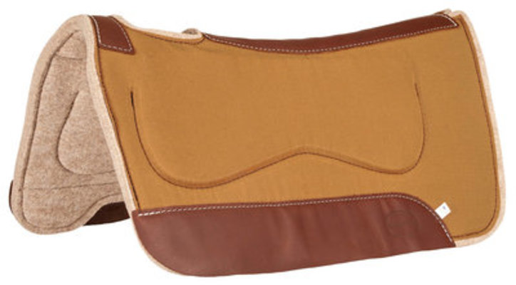 Canvas and Wool Kidney Saddle Pad